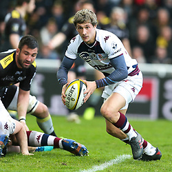 Baptiste Serin of Bordeaux Begles during the Top 14 match between La Rochelle and Bordeaux Begles at Stade Marcel Deflandre on March 24, 2018 in La Rochelle, France. (Photo by Vincent Michel/Icon Sport)