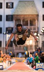 25.05.2016, Altstadt, Innsbruck, AUT, Golden Roof Challenge, Weitsprung Herren, im Bild Weitspringer Emiliano Lasa (URU) // Long Jumper Emiliano Lasa of Uruguay during Mens long jump at Golden Roof Challenge at the Altstadt in Innsbruck, Austria on 2016/05/25. EXPA Pictures © 2016, PhotoCredit: EXPA/ Jakob Gruber