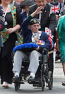Hal0064433<br /> <br /> Date: 15/08/15 <br /> PH:  Nick Edwards<br /> Pictured: Veterans parade on Whitehall to Mark VJ day 70 years on<br /> <br /> Caption: VJ day parade which will mark 70th anniversary of V-J Day. A service is to be held in Horse GuardsParade followed by a flypast and march by veterans.