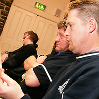 ASK JOE TO NAME THESE PLEASE<br /><br /><br /><br />at the Clare Soccer League AGM in the Clare Inn on Thursday evening,.<br /><br /><br /><br />Photograph by Yvonne Vaughan.