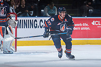 KELOWNA, CANADA - MARCH 24: Joe Gatenby #37 of the Kamloops Blazers skates against the Kelowna Rockets on March 24, 2017 at Prospera Place in Kelowna, British Columbia, Canada.  (Photo by Marissa Baecker/Shoot the Breeze)  *** Local Caption ***