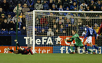 LEICESTER CITY/MANCHESTER CITY FA CUP 3RD ROUND REPLAY 14/01/04 PHOTO TIM PARKER FOTOSPORTS INTL<br /> ANTOINE SIBIERSKI SCORES MANCHESTER CITY'S 1ST GOAL