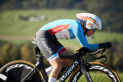 Karol-Ann Canuel (CAN) at UCI Road World Championships 2018 - Elite Women's ITT, a 27.7 km individual time trial in Innsbruck, Austria on September 25, 2018. Photo by Chris Auld/velofocus.com