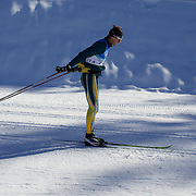 Winter Olympics, Vancouver, 2010.Paul Murray  of Australia practices  at Whistler Olympic Park Cross Country Skiing Stadium and course in preparation for the event at the Winter Olympics. 9th February 2010. Photo Tim Clayton