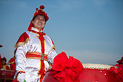 Chinese Drum performer at the prize giving for the Land Rover Extreme Sailing Series regatta in Qingdao, China. 4/5/2014