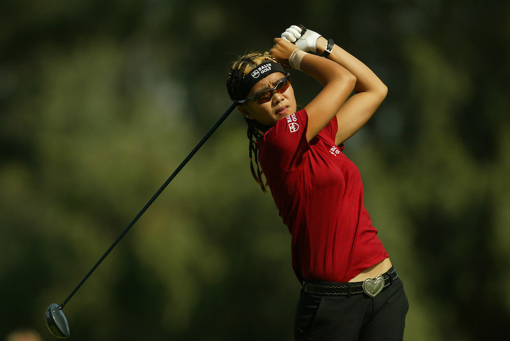 Jennifer Rosales..2004 Kraft Nabisco Championship.MIssion Hills CC.Rancho Mirage, CA .First Round.Thursday, March 25 2004..photograph by Darren Carroll