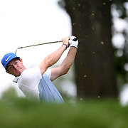 Rory McIlroy in action during the third round of theThe Barclays Golf Tournament at The Ridgewood Country Club, Paramus, New Jersey, USA. 23rd August 2014. Photo Tim Clayton