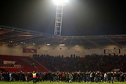 Blackburn Rovers fans pitch invasion after the EFL Sky Bet League 1 match between Doncaster Rovers and Blackburn Rovers at the Keepmoat Stadium, Doncaster, England on 24 April 2018. Picture by Mick Atkins.