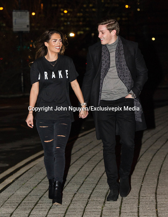 EXCLUSIVE<br /> Ex On The Beach member Nicole Bass and her boyfriend Jacques Fraser pictured heading to the Drake concert at The O2 Arena in Greenwich, London.<br /> &copy;Exclusivepix Media