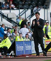 Roy Keane celebrates at the final whistle. Derby County v Sunderland