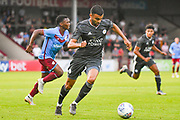 Rachid Ghezzal of Leicester City (31) in action during the Pre-Season Friendly match between Scunthorpe United and Leicester City at Glanford Park, Scunthorpe, England on 16 July 2019.