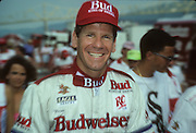 Chip Hanauer, driving the Miss Budweiser, moves through the pits at Madison, Indiana.