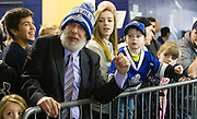 VICTORIA B.C. - JANUARY 23: Fans young and old wait for the Victoria Royals to come out of the dressing room and onto the ice prior to start the second period versus the Kamloops Blazers. The Royals beat the Blazers 6-0 at the Save-On-Foods Memorial Centre in Victoria, British Columbia, Canada. (Photo by Kevin Light/Victoria Royals)