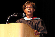 Dayton School Board superintendent Lori L. Ward accepts the class during the Paul Laurence Dunbar High School commencement in the Dayton Convention Center in downtown Dayton, Wednesday, May 23, 2012.