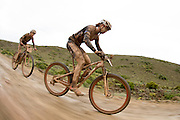 Ariane Kleinhans and Annika Langvad of team RECM2 during stage 2 of the 2014 Absa Cape Epic Mountain Bike stage race from Arabella Wines in Robertson, South Africa on the 25 March 2014<br /> <br /> Photo by Greg Beadle/Cape Epic/SPORTZPICS