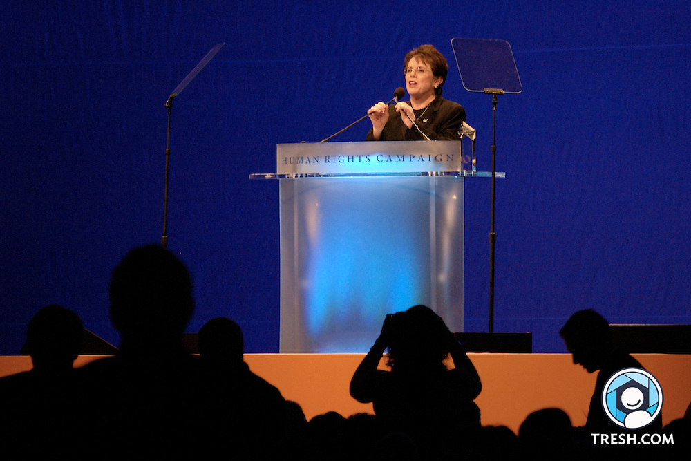 Billie Jean King speaks at the Tenth Annual HRC National Dinner