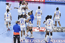 France team jubilates after the Women's european handball chanmpionship preliminary round, Slovenia vs France. Nancy, Fance -02/12/2018//POLEMILE_01POL20181202NAN003/Credit:POL EMILE / SIPA/SIPA/1812021731