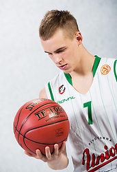 Klemen Prepelic during Euroleague media day of basketball club KK Union Olimpija before new season 2012/13 on September 27, 2012 in Arena Stozice, Ljubljana, Slovenia. (Photo By Vid Ponikvar / Sportida)