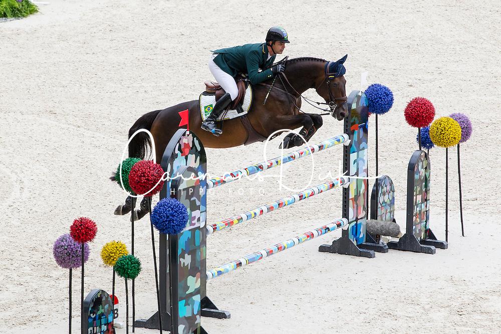 Rodrigo Pessoa, (BRA), Status - Team & Individual Competition Jumping Speed - Alltech FEI World Equestrian Games™ 2014 - Normandy, France.<br /> © Hippo Foto Team - Leanjo De Koster<br /> 02-09-14