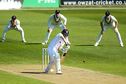 Ben Slater of Derbyshire bats against Middlesex - Mandatory by-line: Robbie Stephenson/JMP - 20/04/2018 - CRICKET - The 3aaa County Ground  - Derby, England - Derbyshire CCC v Middlesex CCC - Specsavers County Championship Division Two