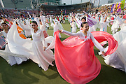 The annual Lotus Lantern Festival is held to celebrate Buddha's Birthday. Opening ceremony for the parade at Dongdaemun Stadium.