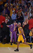 Kobe Bryant get cheered while going on a scoring tear in the 4th quarter. Bryant scored 60 points in his final game as a Los Angeles Laker, as the Lakers defeated the Utah Jazz 101-96. April 13, 2016. Los Angeles, CA.  (Photo by John McCoy/Southern California News Group)