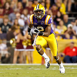 November 13, 2010; Baton Rouge, LA, USA; LSU Tigers wide receiver Rueben Randle (2) on the field during the first half against the Louisiana Monroe Warhawks at Tiger Stadium.  Mandatory Credit: Derick E. Hingle