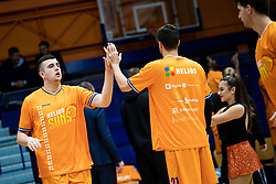 Uros Sikanic of KK Helios Suns during 9. round of Slovenian national championship between teams Helios Suns and Zlatorog Lasko in Sport Hall Domzale on 30. November 2019, Domzale, Slovenija. Grega Valancic / Sportida