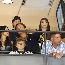October 7, 2012; New Orleans, LA, USA; Suspended New Orleans Saints head coach Sean Payton watches from a suite during the first quarter of a game against the San Diego Chargers at the Mercedes-Benz Superdome. Mandatory Credit: Derick E. Hingle-US PRESSWIRE