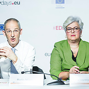 20160616 - Brussels , Belgium - 2016 June 16th - European Development Days - Nuclear science for sustainable development - Martin Nesirky , Director , United Nations Information Service - Moderator  and Ana Raffo-Caiado , Director , Programme Support and Coordination , International Atomic Energy Agency © European Union