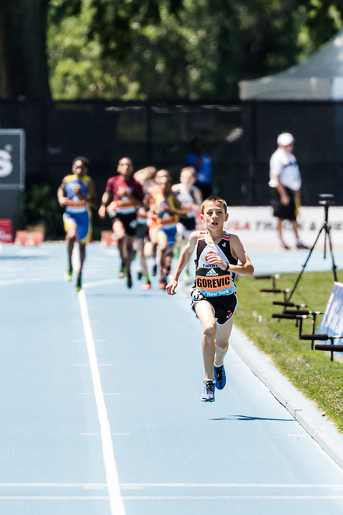 adidas Grand Prix Diamond League Track & Field: youth boys mile, Jonah Gorevic, 11-year-old world record 4:51.85