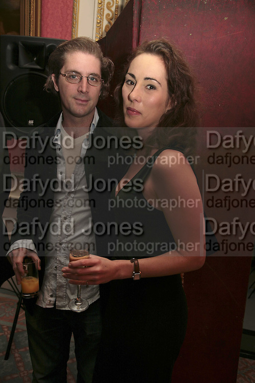CHRISTOPHER EADS AND MELINDA HUGHES, Literary Review's Bad Sex In Fiction Prize.  In &amp; Out Club (The Naval &amp; Military Club), 4 St James's Square, London, SW1, 29 November 2006. <br />
