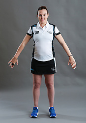 Umpire Natalie Gregan signalling obstruction of player without ball