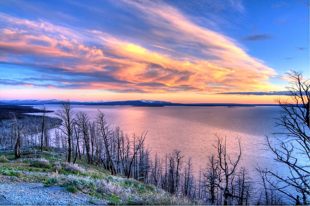 Lake Butte Sunset, Yellowstone