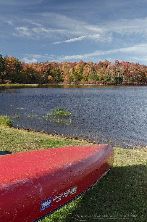 Red canoe, Lake Jean, Ricketts Glen Pennsylvania
