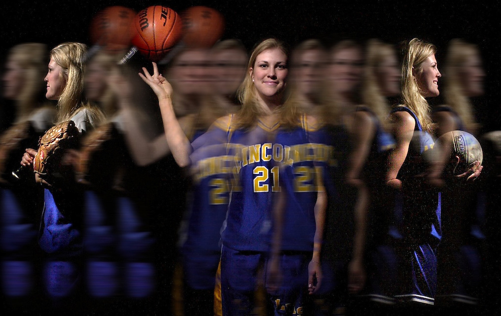Heather Field of Lincoln High School, a three-sport star in softball, basketball and voleyball. She also has perfect grades and a full social life.