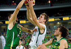 Zoran Dragic of Slovenia during friendly match before Eurobasket Lithuania 2011 between National teams of Slovenia and Lithuania, on August 24, 2011, in Arena Stozice, Ljubljana, Slovenia. Slovenia defeated Lithuania 88-66. (Photo by Vid Ponikvar / Sportida)