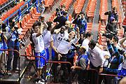 DESCRIZIONE : Milano Final Eight Coppa Italia 2014 Finale Montepaschi Siena - Dinamo Banco di Sardegna Sassari<br /> GIOCATORE : Team<br /> CATEGORIA : Esultanza Coppa<br /> SQUADRA : Dinamo Banco di Sardegna Sassari<br /> EVENTO : Final Eight Coppa Italia 2014 Milano<br /> GARA : Montepaschi Siena - Dinamo Banco di Sardegna Sassari<br /> DATA : 09/02/2014<br /> SPORT : Pallacanestro <br /> AUTORE : Agenzia Ciamillo-Castoria / Luigi Canu<br /> Galleria : Final Eight Coppa Italia 2014 Milano<br /> Fotonotizia : Milano Final Eight Coppa Italia 2014 Finale Montepaschi Siena - Dinamo Banco di Sardegna Sassari<br /> Predefinita :