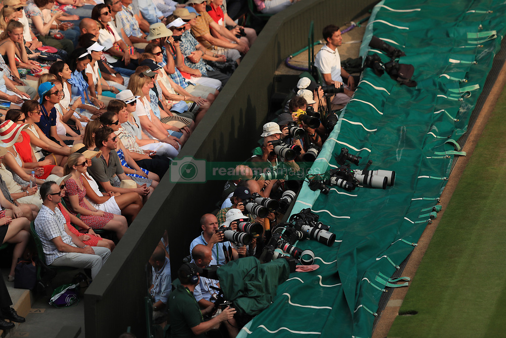6 July 2017 -  Wimbledon Tennis (Day 4) - Sports photographers on Centre Court - Photo: Marc Atkins / Offside.