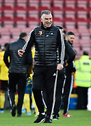 Watford manager Nigel Pearson celebrates the 3-0 win at full time during the Premier League match between Bournemouth and Watford at the Vitality Stadium, Bournemouth, England on 12 January 2020.