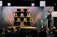 Illustration of the 11 Best players awarded in 2015/2016 French Ligue 1 Championship during the 25th UNFP (Union National des Footballeurs Professionnels) Trophies 2016 ceremony, on May 8, 2016, at Pavillon Gabriel in Paris, France - Photo Jean Marie Hervio / Regamedia / DPPI