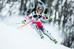 """Hosp Nicole (AUT) competes during FIS Alpine Ski World Cup 2014/15 5th Ladies' Slalom race named """"Snow Queen Trophy 2015"""", on January 4, 2015 in Course Crveni Spust at Sljeme hill, Zagreb, Croatia.  Photo by Vid Ponikvar / Sportida"""