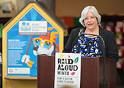 Michelle Dahlquist comments during a news conference at Walnut Bend Elementary School launching Read Aloud Month, March 1, 2016.