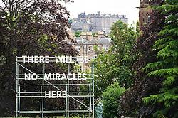 Signs of pesssimism in Edinburgh ahead of the many Festivals about to start in Edinburgh.<br /> Ger Harley | Edinburgh Elite media