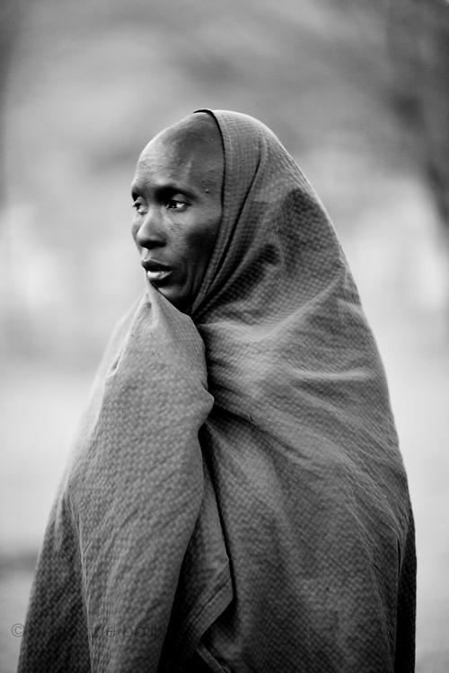 TANZANIA. Gols Mountains. August 10th 2009..A Maasai woman.