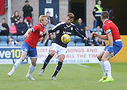Dundee's Rory Loy and Wigan's David Perkins and Andrew Taylor - Dundee v Wigan Athletic - pre season friendly at Dens Park<br /> <br />  - &copy; David Young - www.davidyoungphoto.co.uk - email: davidyoungphoto@gmail.com