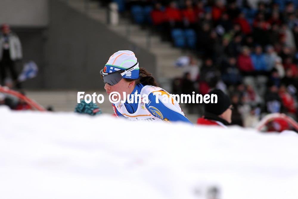 06.03.2010, Lahti, Finland..Cross Country FIS World Cup.Ladies 15 km Classic/Free Pursuit .Kerttu Niskanen - Finland.©Juha Tamminen
