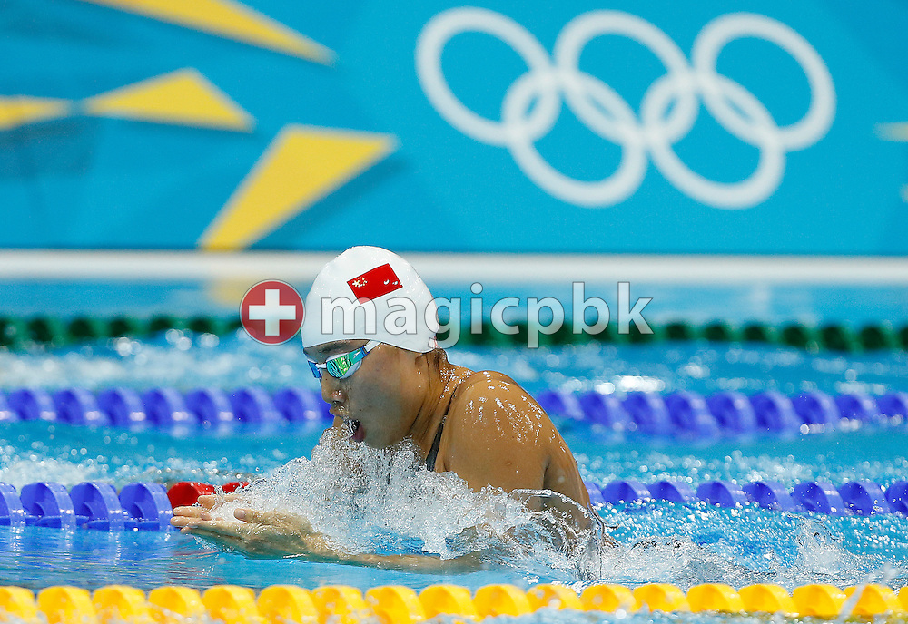 Liping Ji of China competes in the women's 200m Breaststroke Heats during the Swimming competition held at the Aquatics Center during the London 2012 Olympic Games in London, Great Britain, Wednesday, Aug. 1, 2012. (Photo by Patrick B. Kraemer / MAGICPBK)