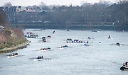 Chiswick, London, Great Britain.<br /> Crew marshalling below Chiswick Bridge.2016 Schools Head of the River Race, Reverse Championship Course Mortlake to Putney. River Thames.<br /> <br /> Thursday  17/03/2016<br /> <br /> [Mandatory Credit: Peter SPURRIER;Intersport images]