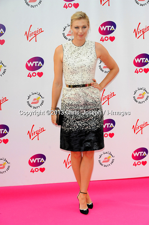 Wimbledon Party<br /> Maria Sharapova attends the annual pre-Wimbledon party at Kensington Roof Gardens,<br /> London, United Kingdom<br /> Thursday, 20th June 2013<br /> Picture by Chris  Joseph / i-Images